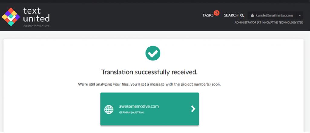 Successful Translation