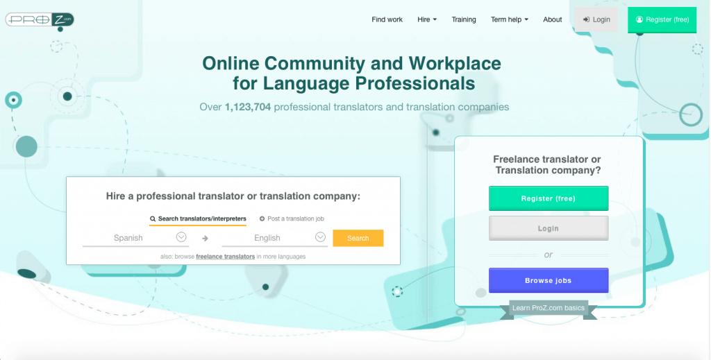 ProZ_Homepage