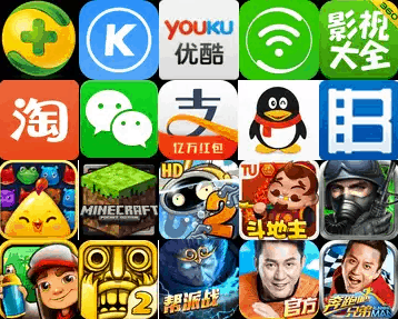 chinese apps saturation