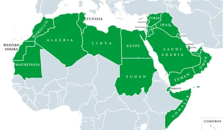 map-of-countries-with-arabic-as-official-language